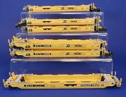 Set Of 6 Athearn Ho Scale Trailer Train Twin-pack Container Well Cars Ttx
