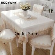 European Lace Tablecloth Table Cover Towel Textile Dining Table Runner Cloth