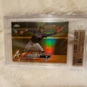 2018 Topps Chrome Ronald Acuna Jr Rookie Card Gold Refractor Hmt31