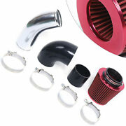 3.5 Cold Air Intake Pipe Filter W/ Clamps Kit Fits Gm Ls1 Lsx Lmx Lqx Motor Red