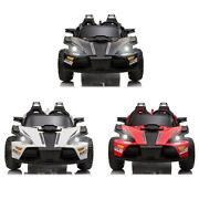 Kids Electric Cars 2 Seats Ride On Car Racing Remote Control Led Lamp Music 12v