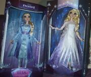 """Disney Frozen 2 Snow Queen And Travel Elsa 17"""" Doll Set Limited Edition In Hand"""