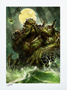 Swamp Thing Sideshow Exclusive Dc Comic Le Art Print Signed Dave Wilkins 79/250