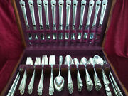 Eternally Yours Silverplate 103 Pc Dinner Set And Chest 1847 Rogers Flatware