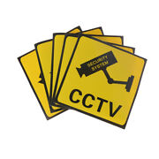 1pc Cctv Security System Camera Sign Waterproof Warning Sticker Si Cz
