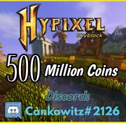 Hypixel 500 Million Skyblock Coins 200 Fast And Safe Delivery