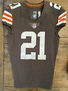 2020 Nike Nfl Authentic Denzel Ward Cleveland Browns Home Jersey Psa/dna Auto 🔥
