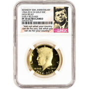 2014 W Us Gold Half Dollar Kennedy 50th Anniversary Proof 50c Ngc Pf70 Early Rel