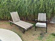 Mid Century Ames Air 4 Piece Patio Furniture Set Including Lounge Chair
