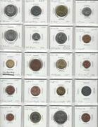 Wholesale Lot 101 World Coins With Silver 63 Countries And 5 Us Territories A-z