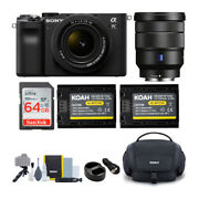 Sony Alpha A7c Mirrorless Camera Black Bundle With Fe 28-60mm And 16-35mm Lens
