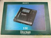 Junk Sony D-350 D-35 Portable Cd Player Discman Vintage Limited From Japan
