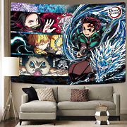 Demon Slayer Tapestry Wall Hanging Large Poster Decor 60x80 In Anime Tapestry