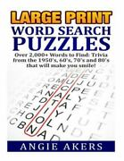 Large Print Word Search Puzzles Over 2000+ Words To Find Trivia That Will...