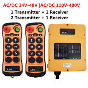 6 Button Hoist Tower Crane Electric Industrial Wireless Remote Control Switch