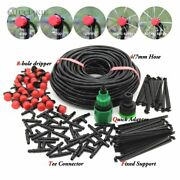 50m-5m Drip Irrigation System Automatic Watering Garden Hose Micro Watering Kits