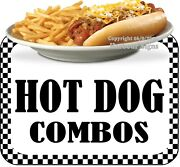 Hot Dog Combos Decal Choose Your Size Food Truck Concession Sticker