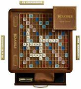 Ws Game Company Scrabble Luxury Edition With Rotating Game Board