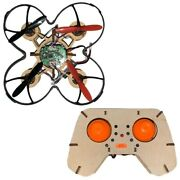 Rc Helicopter Diy Drone Wooden Woody 2.4g 4ch Mini Drones Educational Toys