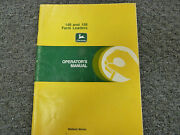 John Deere 148 And 158 Farm Loader Attachment Owner Operator User Guide Manual