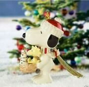 Lenox Peanuts Snoopy's Holiday Nest Christmas Ornament New In Box