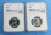2 1959 Ngc Pf 66 Washington Silver Quarters Proof 66 2 Certified Silver Coins