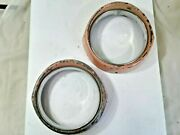 1954 Ford Headlight Bezel Pair W Stainless Rings And Clips Fae-13063-b - 1f94