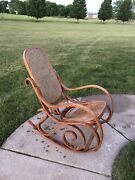 Vintage Bentwood Rocking Chair Rocker For Parts Mid Century Modern Thonet Style