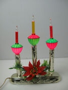 Electric Bubbling Candolier Vintage Bubble Light Candle Decor Acla With Box