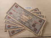 Philippines Emergency Currency Iloilo 2 Pesos - Five Sequential Notes - 136484