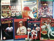 St. Louis Cardinals Yearbook Lot Of 8