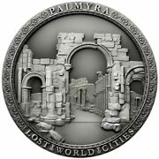 The Last Look On Palmyra 2 Oz High Relief Antique Silver Coin Niue 2021