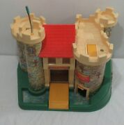 Vintage 1970and039s Fisher Price Little People Family Castle 993 Complete