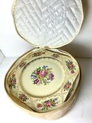 Rosenthal Continental Ivory Queens Bouquet Luncheon Plates Germany New Set Of 12
