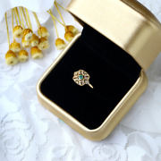 Retro Styled Silver Material Emerald Ring With Inlay Gemstone Square Shape Style