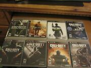 Ps3 Call Of Duty Black Ops 1 2 3 Modern Warfare 1 2 3 And Advanced Ghosts 8 Games