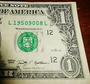 19509008 Year Fancy Serial Number 1 Birthday Anniversary Note 9 8 1950 Dollar