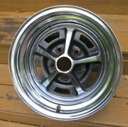 1970and039s Ford 14 X 7 Magnum 500 Chrome Wheel Very Nice Survivor Torino Mustang 4