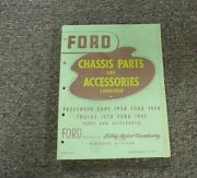 1938 Ford Model 81 A Standard Chassis Parts And Accessories Catalog Manual