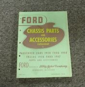 1938-1940 Ford 3/4 Ton Truck Chassis Parts And Accessories Catalog Manual 1939