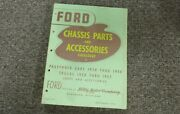 1938 Ford Model 82 A Chassis Parts And Accessories Catalog Manual