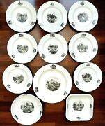 Rare Set Of Early 18thc Creamware With Exquisite Transfers By Frain Moravia