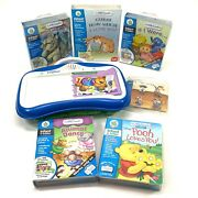 Leap Frog Little Touch Leap Pad Learning System With 6 Cartridges W/books Tested