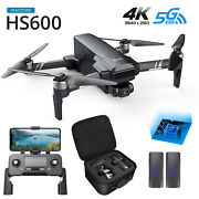 Rc Drone Hs600 Eis Gps With 4k Kamera 2-axis Gimbal 5g Quadrocopter 2 Batteries