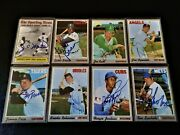 64 1970 Topps Autographed Baseball Card Starter Set Lot Old Vintage Auto And03960s