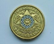 2019 Aust. Police,2 Dollar Mint Coin This Photo Is The Actual Coin You Purchase