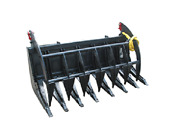 New 72 Hd Root Brush Grapple Skid Steer Loader Mount Clamshell Tractor 6 Bobcat