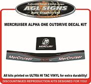 Mercury Alpha One Outdrive Replacement Decal Kit Mercruiser
