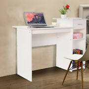 Computer Desk Study Writing Table Office Desk Workstation Home Furniture White