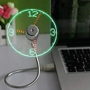 Onxe Led Usb Clock Fan With Real Time Display Functionusb Clock Fanssilver1 Y